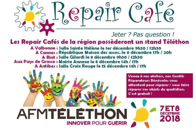 Les Repair Cafés de la région participent au Téléthon