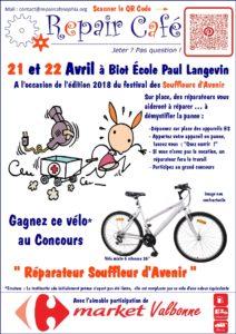 Affiche Repair Café Souffleurs d'Avenir 2018