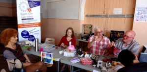 Stand Repair Café aux Souffleurs d'Avenir 2018 à Biot