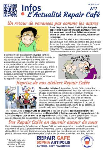 2020 08 Info L'Actualité du Repair Café n°1
