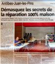 """Nice-Matin - 18 septembre 2020 : """"Démasquez les secrets de la réparation 100% maison"""""""