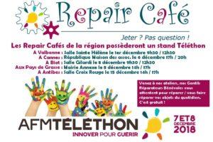 Les Repair Cafés participent au Téléthon