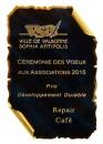 Prix du Développement Durable VSA 2015