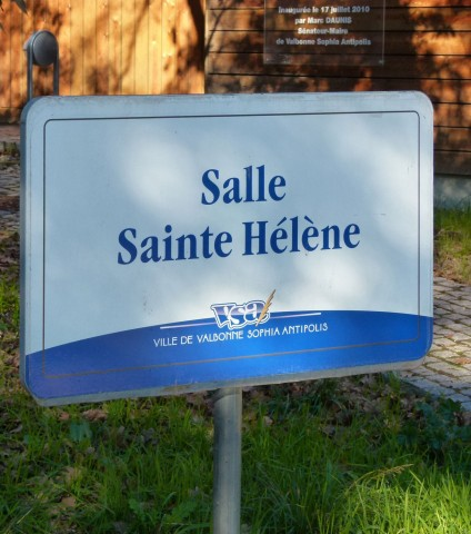 Panneau de la Salle Ste-Hélène