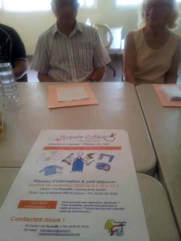 L'affiche de la réunion