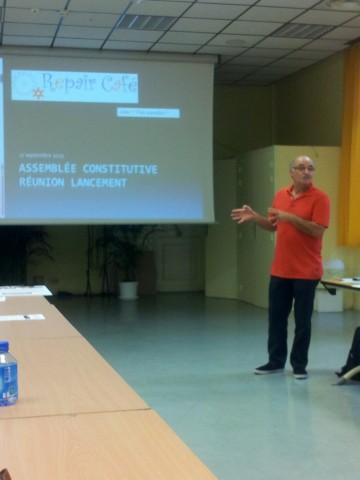 Soleiman Hatanian présente le projet.