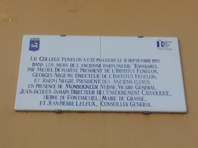Plaque du collège