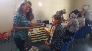 16 septembre 2017 - RC Antibes - La gagnate du tirage au sort pour le sac RC